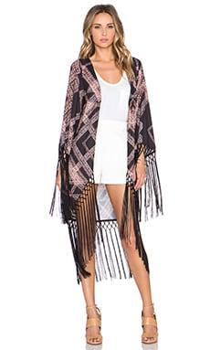 Whitney Eve Santorini Fringe Kimono in Diamond Maze