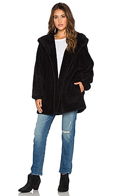 Whitney Eve Rattlesnake Faux Fur Jacket in Black