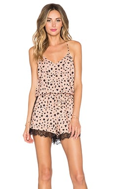 Whitney Eve Bells Romper in Sketchy Leo