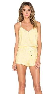 Whitney Eve Bells Romper in Yellow