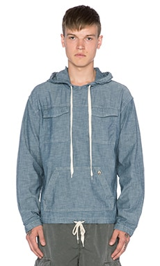 EVER Bolsa Pull Over Hoodie in Indigo