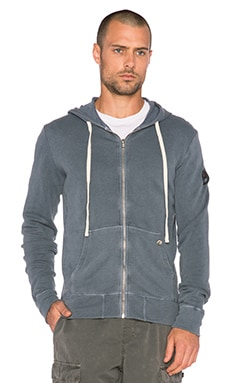EVER Beachwood Zip Hoodie in Dark Blue
