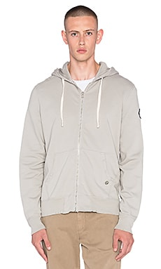 EVER Beachwood Zip Hoodie in Silver