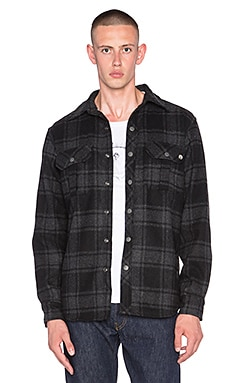 EVER Chuy Shirt Jacket in Black Plaid