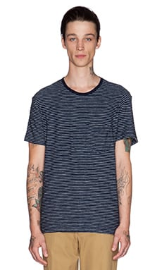 EVER Dennis Tee in Indigo Stripe