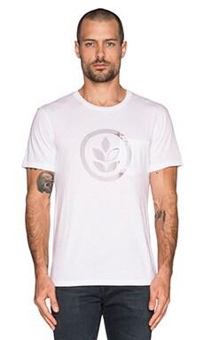 EVER Outline Logo Pocket Tee in White
