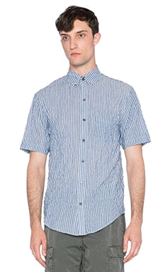 EVER Dillon Button Down in Varigated Blue Stripe