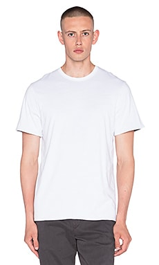 EVER Patton Reversable Tee in White & Heather Grey