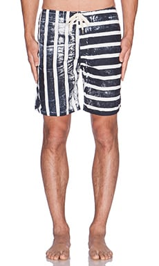 EVER Gravels Boardshort in Navy Stripe
