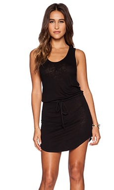 EVER Melanie Tank Tie Dress in Black