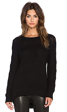 EVER Basel Cable Crew Pullover in Black