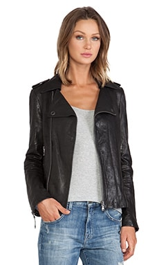 EVER Dylan Moto Jacket in Black