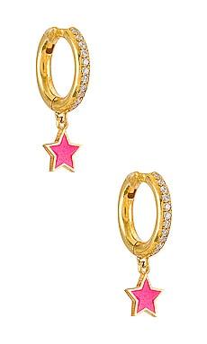Full Star Midi Hoops Eye M by Ileana Makri $101