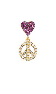 Love Peace Single Earring Eye M by Ileana Makri $165 NEW