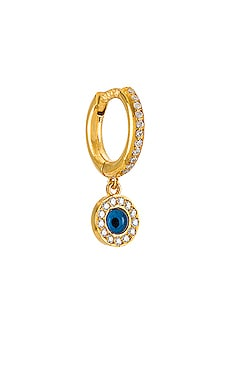 Protection Midi Single Hoop Earring Eye M by Ileana Makri $120 NEW