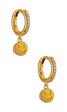 Smiley Midi Hoops Eye M by Ileana Makri $180