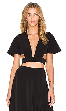 FADDOUL x REVOLVE Haze Wrap Crop Top in Black