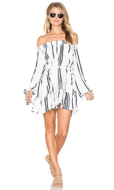 Milos Dress in Del Rio Stripe Print