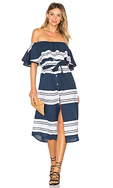 Majorca Maxi in Navy Claremont Stripe Print