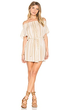 Deia Dress in Uptown Stripe Print