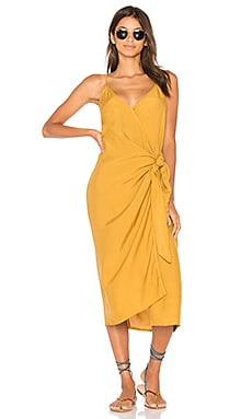 Juel Midi Dress in Plain Mustard