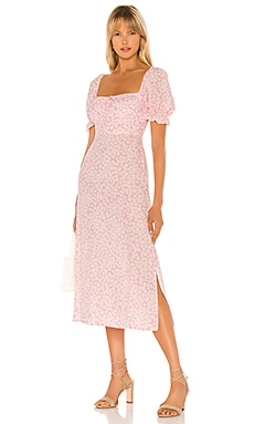 Evelyn Midi Dress FAITHFULL THE BRAND $189 NEW ARRIVAL