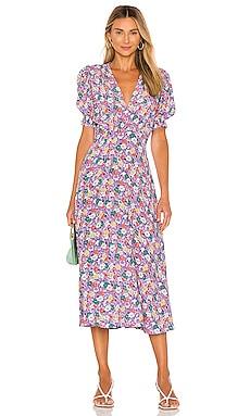 Marie Louise Midi Dress FAITHFULL THE BRAND $189 BEST SELLER