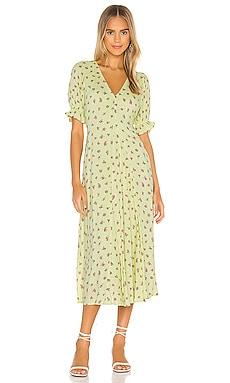 MAGGIE ミディ丈ドレス FAITHFULL THE BRAND $189