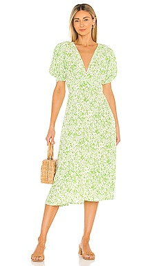 Marie Louise Midi Dress FAITHFULL THE BRAND $189 NEW