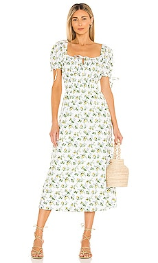 Flora Midi Dress FAITHFULL THE BRAND $219 NEW