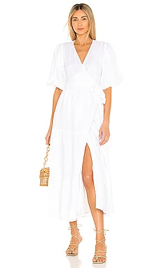 Edee Wrap Dress FAITHFULL THE BRAND $329 NEW