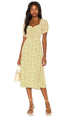 OLYMPIA ミディ丈ドレス FAITHFULL THE BRAND $199