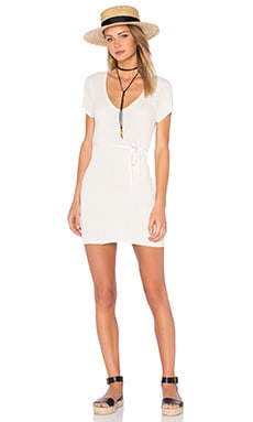 FAITHFULL THE BRAND Poppy Knit Dress in Plain Off White