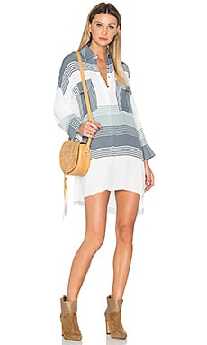Baia Shirt Dress in Verde Stripes