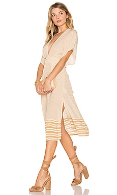 Mustang Midi Dress in Camp Cove Stripe Print