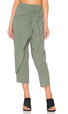 FAITHFULL THE BRAND Lagoon Pants in Plain Khaki