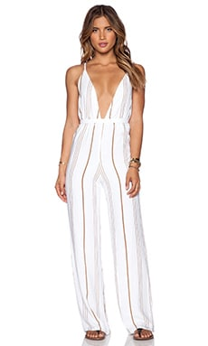 FAITHFULL THE BRAND Shutterbabe Jumpsuit in Jetset Stripe
