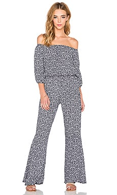 FAITHFULL THE BRAND Urban Winter Tales Jumpsuit in Navy & White