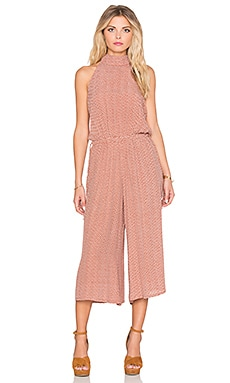 FAITHFULL THE BRAND Fleetwood Alegre Print Jumpsuit in Rust & White