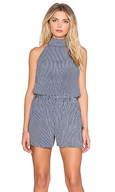 FAITHFULL THE BRAND Louis Rider Stripe Romper in Navy & White