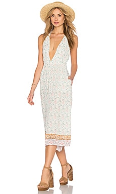FAITHFULL THE BRAND Hamptons Jumpsuit in Faded Out Floral Print