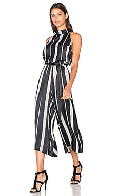 FAITHFULL THE BRAND Plaga Jumpsuit in London Stripe Reverse