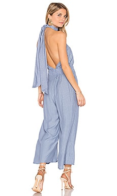 Shore Jumpsuit in Oxford Blue Stripe