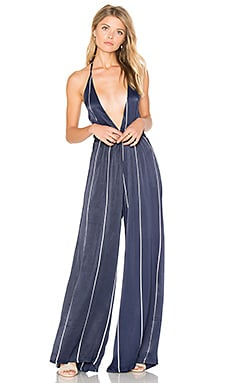 Riley Jumpsuit in Riptide Stripe Print