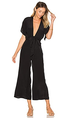 Cedric Jumpsuit in Plain Black