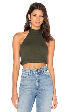 FAITHFULL THE BRAND Debbie Top in Green Khaki