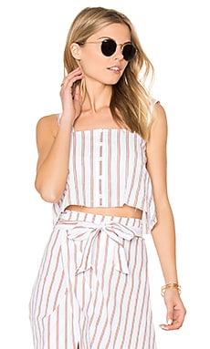 Balmy Top in Natural Bay Stripe Print