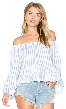 Galle Top en Pallais Stripe Print