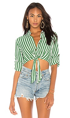 Купить Топ beau rivage - FAITHFULL THE BRAND зеленого цвета