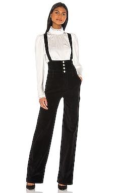 Le Velveteen Cumberbund Jumpsuit FRAME $345 Collections